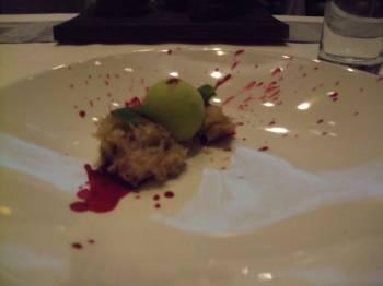 Wrigley's: Candied Beet, Vanilla Sponge Cake, Spearmint